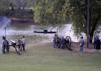 Cherokee Artillery and the USS Monitor on the Coosa River